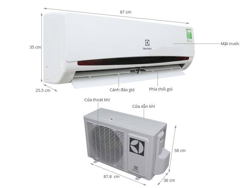 Điều hòa Electrolux ESV12CRK-A1 1.5 HP, Inverter