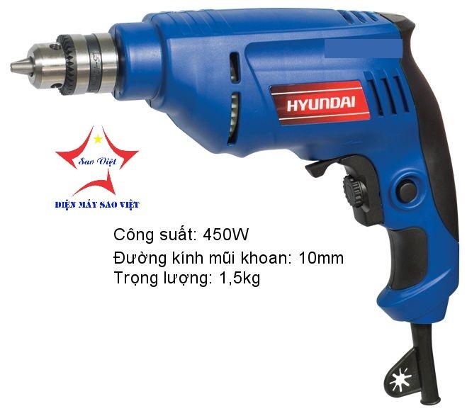Máy khoan điện 10mm Hyundai HKD101