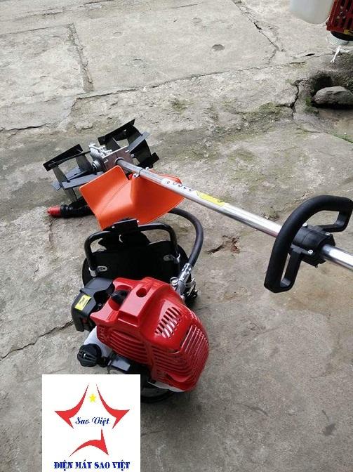 Máy xạc cỏ xới đất cầm tay đeo vai Mitsu 440