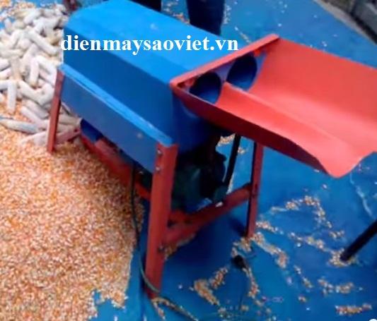 Máy tách hạt ngô mini 2 cửa nạp