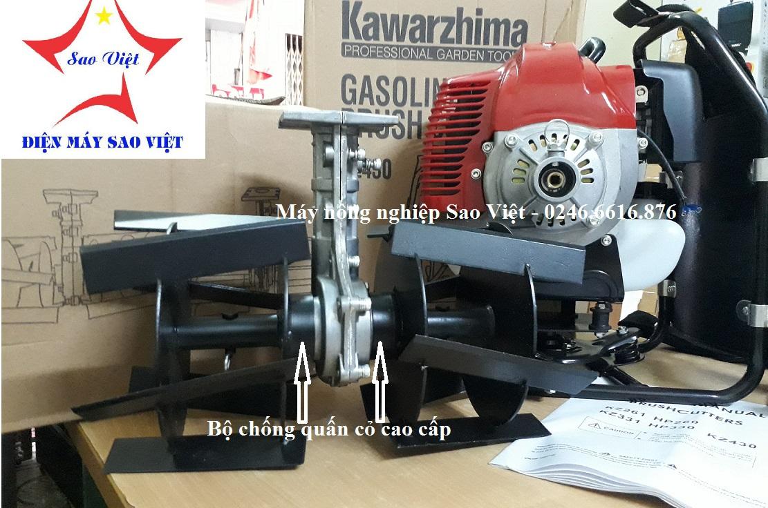 Máy xạc cỏ xới đất cầm tay Kawarzhima KZ430